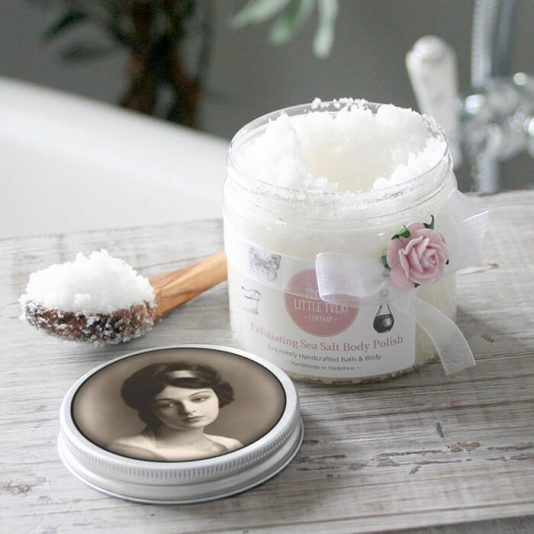 Body Scrub made with natural dead sea salt and sweet almond oil