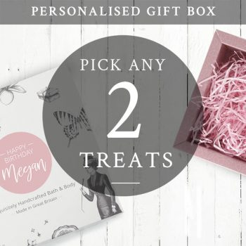 create your own Personalised gift set for her 2 treats