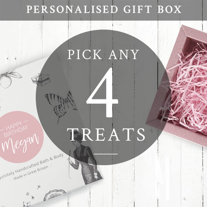create your own Personalised gift set for her 4 treats