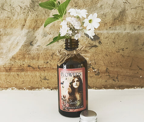 Upcycle our Pretty Little glass apothecary bath concoction bottle