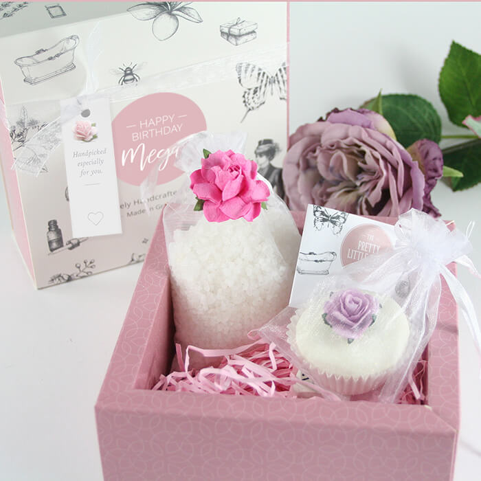 A beautiful personalised pamper gift for her