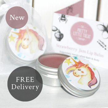 Unicorn Lip Balm Strawberry Jam Pretty Little Treats 1