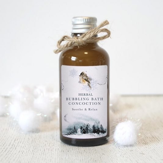 Winter Woodland Bubble Bath Herbal Fragrance Pretty Little Treats Co