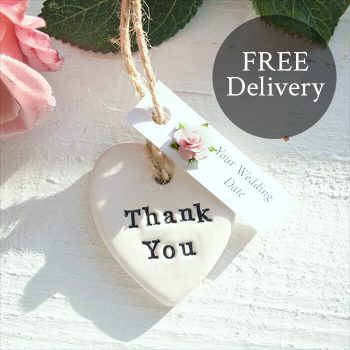 Handmade Thank You Keepsake Heart Bridesmaid Gift Keepsake
