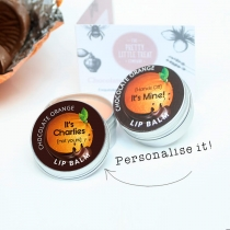 Chocolate Orange Personalised Lip Balm (15g)